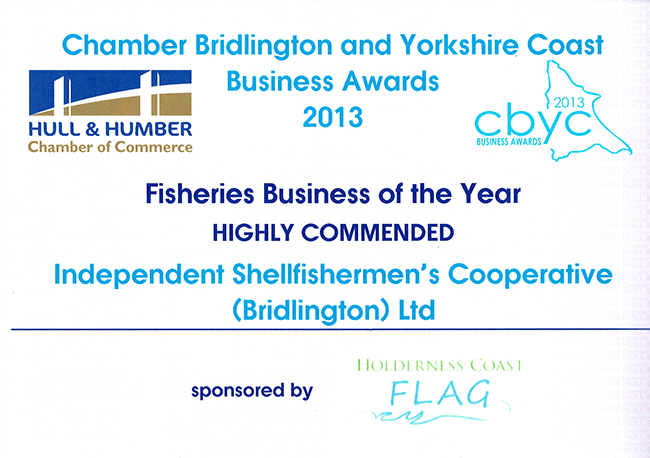 ISC was highly commended in the Fisheries Business of the Year 2013